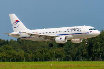 Eurowings Airbus landet in Nürnberg