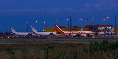 Planespotting am DHL-Hub Leipzig