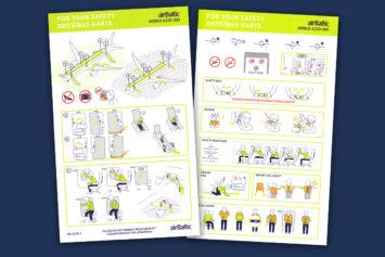 Safety Card Air Baltic Airbus A220-300
